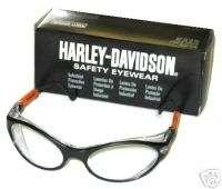 Harley Davidson Safety Glasses Clear Lens #8092