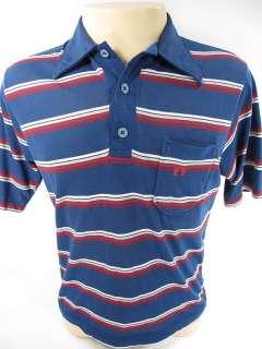 vintage HANG TEN blue STRIPE shirt SURFER men M