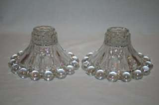 651 Anchor Hocking Boopie Glass Candle Holders Set of 2