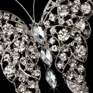 Crystal Butterfly Bridal Brooch Comb Cake Brooch