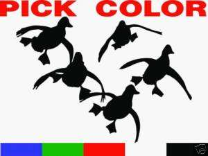 FLYING DUCKS LANDING 12 Hunting Decals VINYL STICKER