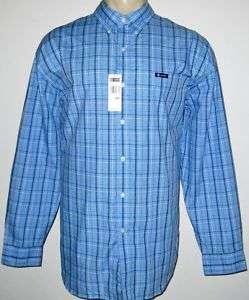 NEW 3XB CHAPS MENS SHIRT Blue Long Sleeve 3XL 3X XXXL
