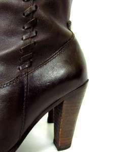 STEVE MADDEN SALOONN western cowboy boots heels side zip sz 6 M