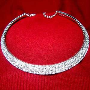 Item  Austrian rhinestone crystal Choker Necklace Wedding