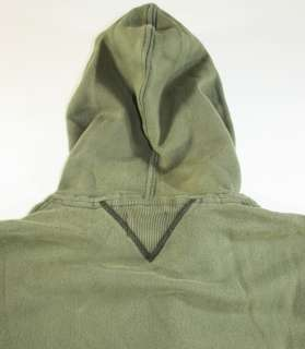 NEW POLO RALPH LAUREN RUGBY HOODIE HOODED SWEATER JACKET GREEN S & L