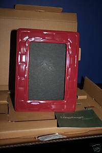 Longaberger  Paprika Woven Traditions 4X6 Picture Frame