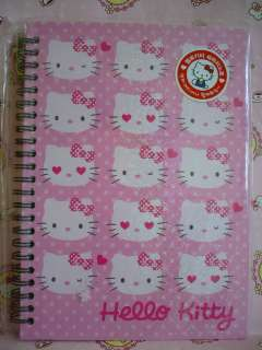 Sanrio Hello Kitty I Love Kitty Hard Cover Spiral Notebook Handbook B