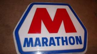 HUGE 5 FOOT MARATHON SPEEDWAY AUTO GAS OIL GASOLINE ADVERTISEMENT SIGN