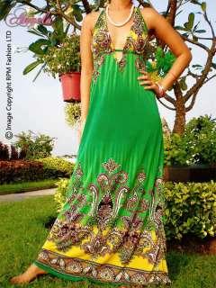 NEW Blue/Green/Purple Halter Neck Sexy Women Long Dress Size M L 6 8