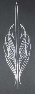 Pinstripe 09 Von Dutch Style Vinyl Decal 12x3.8