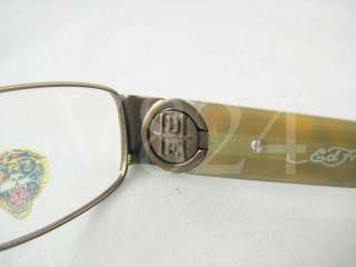 ED HARDY EHO 711 Eyeglass Optical EHO711 BROWN PEWTER