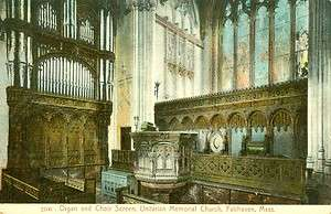 ,MA. The Unitarian Memorial Church, Organ and Choir Screen