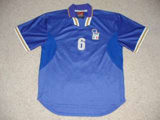 Team Player #6 Nesta Match Worn Jersey Shirt Game Used NIKE
