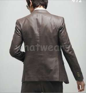 Cool Mens Slim Fit One Button Stylish Suit White Z05(Jacket Only