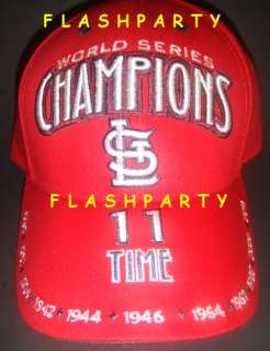 STL CARDINALS 11 TIME WORLD SERIES CHAMPIONS HAT