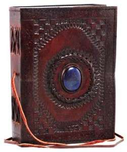 Medium God`s Eye Leather Blank Book Journal Book of Shadows Grimoire
