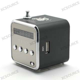 Portable FM Radio Speaker Music Player SD/TF Card For PC iPod MP3 IP20