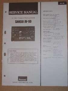 Sansui Service Manual~AV 99 Audio Video Processor