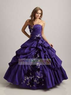 Wedding Dress Quinceanera Dresses bridesmaid gown A Line Size:6 8 10