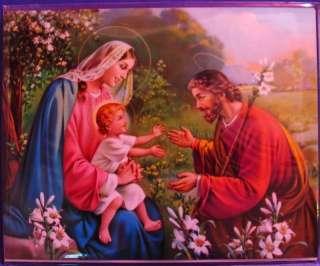 Picture Print Jesus Mary Joseph Holy Family Jesus 8 x 10 Cromo Italy