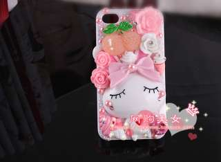 New Sweet Rabbit Cartoon Characters DIY Mobile Phone i phone Shell