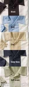 Mens Size S 4XL CHARLIE SHEEN Bedford Button Down Camp Shirt