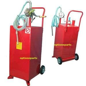 30 GALLON GAS CADDY TANK GASOLINE FLUID DIESEL +PUMP