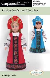 Russian Sarafan Dress & Peasant Blouse Pattern, Carpatina & American