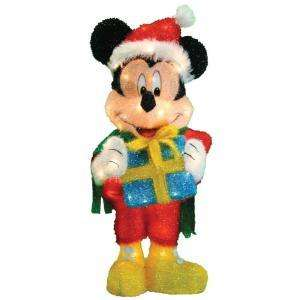 LARGE DISNEY MICKEY MOUSE PRESENT 3D LIGHTED CHRISTMAS HOME YARD