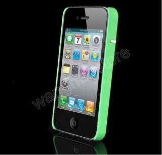 Green DELUXE CHROME Fashion Hard Case Cover for IPHONE 4S 4G 4 CASE AT