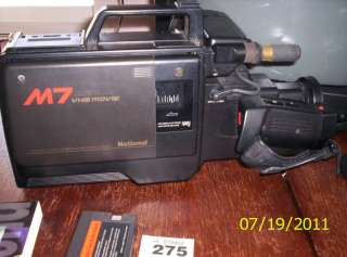 NATIONAL Panasonic full size VHS Camcorder NV M7