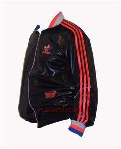ADIDAS CHILE 62 RIBBED TRACK TOP JACKET BLACK/BLU/ORANG