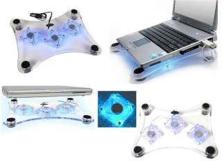 FAN USB NOTEBOOK COOLER COOLING PAD FOR LAPTOP PC UK