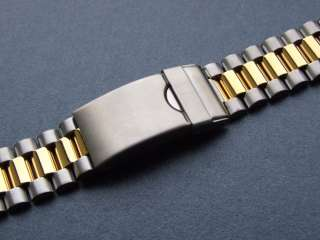 Gold and Steel   Two Tone Stainless Steel Watch Strap with 18mm and