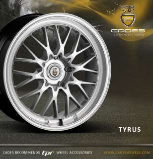 18 CADES TYRUS deep dish rear wheels for audi A4