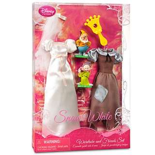 Disney Barbie Snow White Wardrobe Set Doll 6 pcs NIB