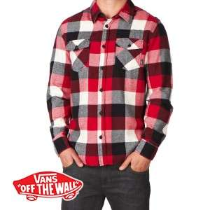 Mens Vans Box Flannel Long Sleeve Shirt
