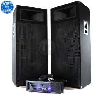 Ekho 800W 15 Bass Dual Woofer DJ PA System Speakers 2x1000W  Power