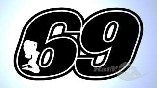 RACE NUMBERS SEXY 69 DECALS STICKERS GRAPHICS TRACK