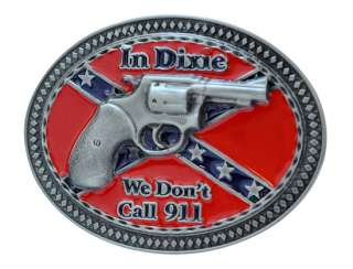 Dixie 911 Gun Belt Buckle Southern Pride Confederate Rebel