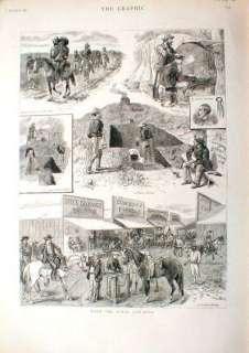 1887 Texas Cowboys Saloon Billiards Wild West RARE!