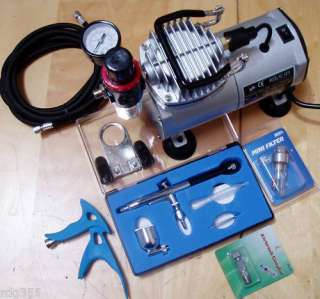 AIRBRUSH KIT + AIRBRUSH COMPRESSOR AIR BRUSH COMPRESSOR