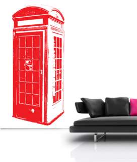 London Telephone Box Vinyl Wall sticker decal quotes