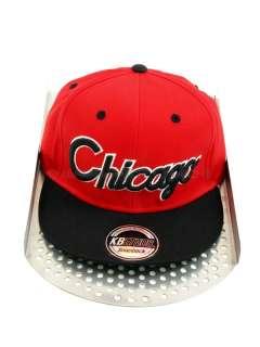 Chicago Flat Peak Baseball Snapback Hip Hop Caps
