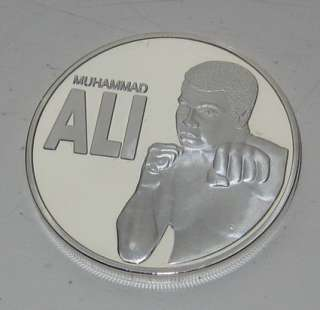 Muhammad Ali Silver Coin Boxer Cassius Clay Knockout Fighter Fight