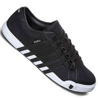 Swiss Newport Trainers Black/White/White Mens Size