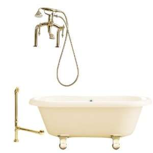 Giagni LP3 MB B Portsmouth 60 Bisque Dual Tub with Cannonball Feet