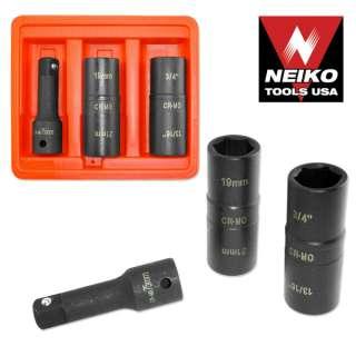 Neiko 3 pc 1/2 Dr. Thin Wall Flip Impact Socket Set