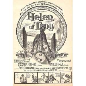 Helen of Troy 1956 Original Movie ad with Rossana Podesta