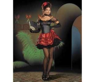 Spanish Burlesque Senorita Bonita Fancy Dress Costume